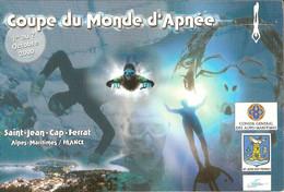 CPM - SAINT JEAN CAP FERRAT - COUPE DU MONDE D'APNEE 2000 - DEDICACEE AU DOS PAR LOIC LEFERME - Saint-Jean-Cap-Ferrat