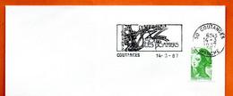 50 COUTANCES SOUS LES POMMIERS 1987 Lettre Entière N° UV 223 - Mechanical Postmarks (Advertisement)