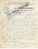 63 - Puy-de-dôme - RANDAN - Facture BICARD-CHAMBON - Menuiserie, ébénisterie, Etc - 1905 - REF 164B - 1900 – 1949