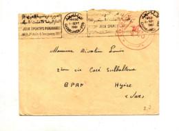 Lettre Franchise Militaire Flamme Casablanca Jeux Sportifs 1961 + Marine Royale - Morocco (1956-...)