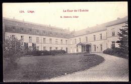 CPA LIEGE - LA COUR DE L'EVECHE - RARE ! Voyagé > Avelghem - Liège