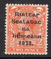 Ireland 1922 2d Die I Rialtas Black Overprint Definitive, 1st Thom Printing, Lightly Hinged Mint, SG 12 - 1922 Governo Provvisorio