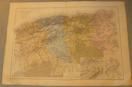 Carte D'ALGERIE / TUNISIE - 1 / 2 880 000ème. Editeur : Belin. - Mapas Geográficas