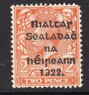 Ireland 1922 2d Die I Rialtas Black Overprint Definitive, 2nd Thom Printing, Lightly Hinged Mint, SG 33 - 1922 Governo Provvisorio
