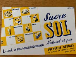 1 BUVARD SUCRE SOL - Sucreries & Gâteaux
