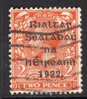 Ireland 1922 2d Die I Rialtas Black Overprint Definitive, 1st Thom Printing, Used, SG 12 - 1922 Governo Provvisorio