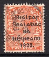 Ireland 1922 2d Die II Rialtas Black Overprint Definitive, 1st Thom Printing, Used, SG 13 - 1922 Governo Provvisorio