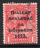 Ireland 1922 1d Rialtas Black Overprint Definitive, 2nd Thom Printing, Used, SG 31 - 1922 Governo Provvisorio