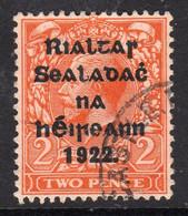 Ireland 1922 2d Die I Rialtas Black Overprint Definitive, 2nd Thom Printing, Used, SG 33 - 1922 Governo Provvisorio
