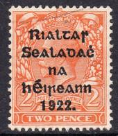 Ireland 1922 2d Die II Rialtas Black Overprint Definitive, 2nd Thom Printing, Used Part Skeleton Cancel, SG 34 - 1922 Governo Provvisorio