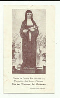 Images Religieuse Sainte Rita Rus Des Wagnons 14, Quiévrain - Devotieprenten