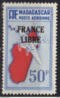 Madagascar Poste Aérienne N° 51 * France Libre - Posta Aerea