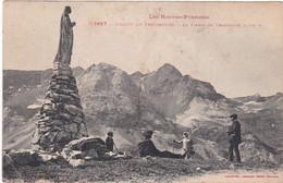 F3762 CIRQUE DE TROUMOUSE - LA VIERGE DE TROUMOUSE - ESCALE DES RANDONNEURS - DOS VERT - Autres Communes