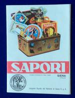 SAPORI SIENA  - PUBBLICITA' ADVERTISING LIBRETTO A FISARMONICA DI 16 Pagine - Publicidad