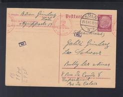 Dt. Reich GSK 1941 Köln Nach Frankreich Zensur - Cartas