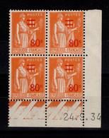 Coin Daté - YV 359 N** Paix Surchargé Du 24.9.34 - 1930-1939