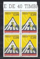 Andorra Fr. 2002  School Traffic Security  1v Bl Of 4  ** Mnh (50229A) - French Andorra