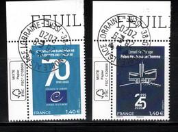 France 2020.Conseil De L'europe.cachet Rond Gomme D'Origine - Used Stamps