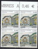 Andorra Fr. 2002  Hotel Rosaleda 1v Bl Of 4 ** Mnh (50230A) - French Andorra