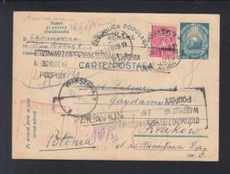 Rumänien Romania GSK Mit ZuF 1948 Nach Polen - Covers & Documents