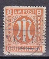 Men_ All. Besetzung Bizone AM Post - Mi.Nr. 14 G - Gestempelt Used - Zähnung G - American/British Zone