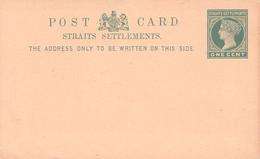 STRAITS SETTLEMENT - POSTCARD ONE CENT Unc  /AA16* - Straits Settlements