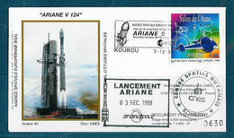 ESPACE - ARIANE Vol Du 1999/12 V124 - CNES - 1 Enveloppe Lanceur - Europa