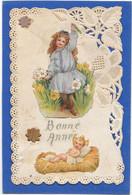 Carte Dentelée à Découpis De Filllette Et Enfant Jésus - Phantasie