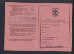 Dt. Reich Reichsnährstand Verwaltungs-Beitrags-Karte Für Ausländische U. Fremdvölkische Landwirtschaftliche Arbeiter 194 - Historische Dokumente