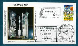 ESPACE - ARIANE Vol Du 1999/11 V123 - CNES - 1 Enveloppe Lanceur - Europa