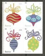USA. Scott # 4571-74a, MNH Pane Of 4 From Booklet. Christmas APU Printer. 2011 - 1981-...