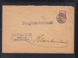 Dt. Reich Dienstbrief 1905 Karlsruhe - Dienstzegels