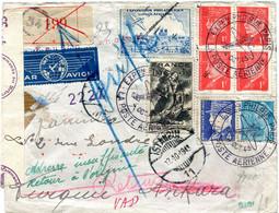 FRANCE LETTRE RECOMMANDEE PAR AVION CENSUREE DEPART EXPon PHILque PARIS 4 OCT 43 LA POSTE AERIENNE POUR LA TURQUIE - 1927-1959 Briefe & Dokumente