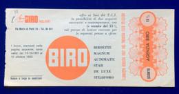 PENNE A SFERA BIRO  - BUONO SCONTO DA LIBRETTO DEL T.C.I. 1952 - PUBBLICITA' ADVERTISING - Advertising