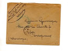 Lettre Franchise Militaire Cachet Alger + Aviation D'algerie - Manual Postmarks