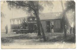 17-LE GALON D'OR-Arrivée Du Tram Forestier...1913 (carte Défaut Mais Pas Courante) - Other Municipalities