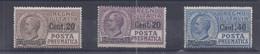 Italien - Selt./ungebr. Rohrpostwerte Aus 1925 - Michel 214/16! - Non Classificati