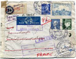 FRANCE LETTRE RECOMMANDEE PAR AVION CENSUREE DEPART EXPon PHILque PARIS 4 OCT 43 LA POSTE AERIENNE POUR L'IRLANDE - 1927-1959 Briefe & Dokumente