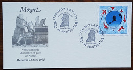 CM 1991 - YT N°2695 - TRAIN MOZART - NANTES - Maximum Cards