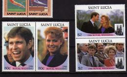 Sainte-Lucie (1986) -  Royal Wedding    - Neufs** - St.Lucia (1979-...)