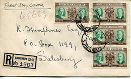 Southern Rhodesia Mi# 72 Used On FDC Letter  - 60 Years Rhodesia - Occupation Day - Southern Rhodesia (...-1964)