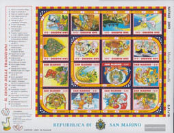 San Marino 2120-2135 ZD-archery (complete Issue) Unmounted Mint / Never Hinged 2003 Christmas Gänsespiel - Nuovi