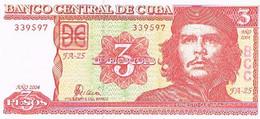 CUBA  BILLET   NEUF  DE 3  PESOS  N°339597           BI55 - Cuba