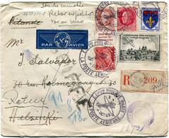FRANCE LETTRE RECOMMANDEE PAR AVION CENSUREE DEPART EXPon PHILque PARIS 4 OCT 43 LA POSTE AERIENNE POUR LA FINLANDE - 1927-1959 Briefe & Dokumente