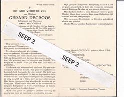 DP Gerard DECROOS Oostvleteren 1903-1954 Eggewaartskapelle (echtg. Vercoutter) - Religion &  Esoterik