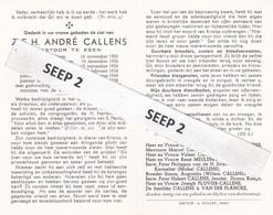 DP E.H. André CALLENS Desselgem 1900-1959 Esen (Ieper, Reningelst, Voormezele, Esen) - Religion &  Esoterik