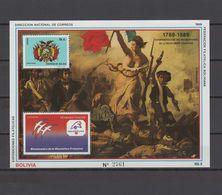 Bolivia 1989 Paintings, Delacroix, French Revolution S/s MNH - Sonstige
