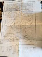 """Carte  Géographique Intitulée """" Eyguières N°2"""" ( En Fait Plan De Région De Maussane, Le Paradou, Caphan ) - Mapas Geográficas"""