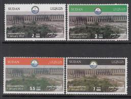 2013 Sudan Rosieres Dam Project Complete Set Of 4  MNH - Sudan (1954-...)