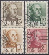 ESPAÑA 1948-1954 Nº 1020/23 USADO (REF. 01) - 1931-50 Usati